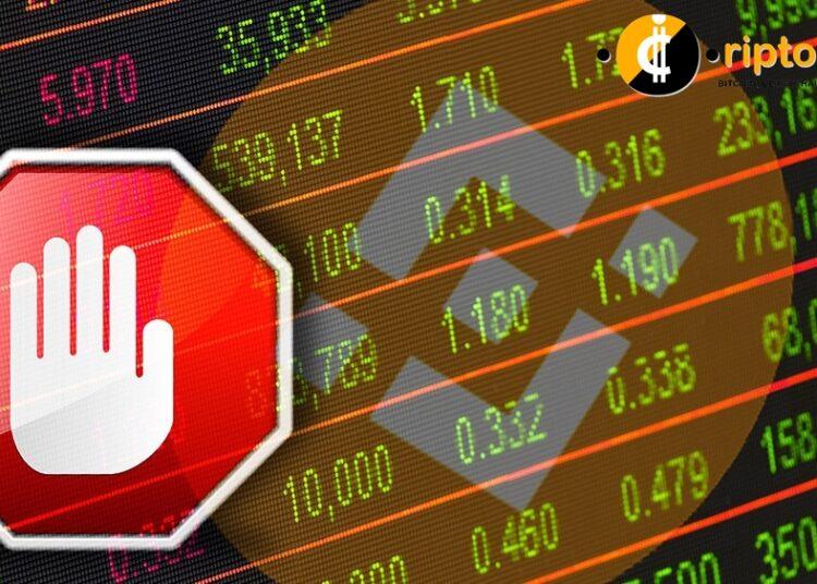 Binance cierra el comercio con tokens de acciones